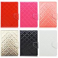 7インチユニバーサルタブレット用スタンドケースと菱形パターン高品質PUレザー