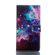 For Samsung Galaxy etui Pung / Kortholder / Med stativ / Flip Etui Heldækkende Etui Landskab Kunstlæder Samsung S5 Mini / S5
