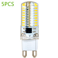 5 pcs G9 6 W 72 SMD 3014 580 LM Warm White / Cool White T Decorative Bi-pin Lights AC 220-240 V