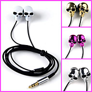 Skull High Stereo Headset In Ear Metal Earphone handsfree Headphones with Mic 3.5mm Earbuds for Player Samsung iphone