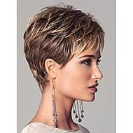 Euroopan lady naisten lyhyt syntheic aalto peruukit laajennuksia kaunis peruukki