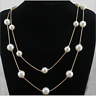 Duży (Metal / Sztuczna perła Vintage / Imprezowa / Do biura