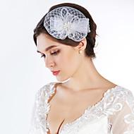 Women's Rhinestone Imitation Pearl Net Headpiece-Special Occasion Fascinators
