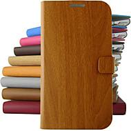 Varten Samsung Galaxy Note Tuella / Flip Etui Kokonaan peittävä Etui Puukuvio Tekonahka Samsung Note 3 / Note 2