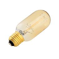 YouOKLight® E27 40W CRI=80 400lm Warm White Light Incandescent Tungsten Edison Filament Bulb -Cylindrical(AC 220-240V)