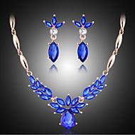 여성제품-빈티지 / 파티-목걸이 / 귀걸이(로즈 골드 도금 / 합금 / 모조 다이아몬드 / 원석 & 크리스탈)