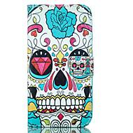 Na Samsung Galaxy Etui Etui Pokrowce Portfel Etui na karty Z podpórką Futerał Kılıf Czaszki Miękkie Sztuczna skóra na Samsung J5 J1