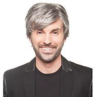 peruki wysokiej jakości syntetycznych krótkich straight koloru szarego człowieka