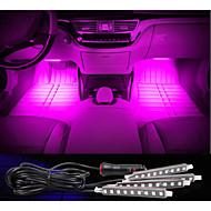 carga del coche decorativa lámpara de ambiente llevó decoración interior planta de luz con el mini regulador llevado 4pcs solo color