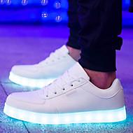 las de las mujeres llevaron los zapatos del talón de carga USB de confort plana a zapatillas de deporte negras punta redonda informal