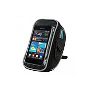 ROSWHEEL 자전거 가방 1.2LL휴대 전화 가방 자전거 핸들바 백 방수 착용 가능한 터치 스크린 전화/Iphone 싸이클 가방 테릴렌 싸이클 백 Samsung Galaxy S4 다른 유사한 크기의 전화 사이클링/자전거