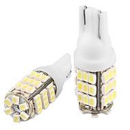 2 * t10 W5W 168 194 blanco 42 SMD llevó la luz de la lámpara del bulbo lateral