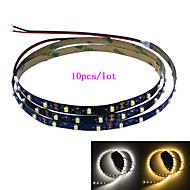 Jiawen 10pcs / lot 100cm 4w 60x3528smd hvit / varmt hvitt lys LED strip lampe for bil og kabinett (DC 12V)