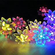 kung ro sol 21.32ft 30LED lotus fint bröllop part dekoration ljus utomhus vattentät sträng lampor