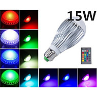 MORSEN®Hot Sale  15W E27 RGB LED Bulb Light   AC85-265V  Remote Control  Lamp
