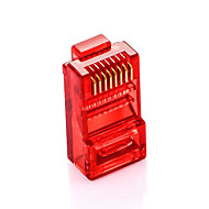 shengwei® rc-3100 100pcs spina multicolore RJ45 Plug cat5e per interfaccia di connessione ad internet (rosso blu arancio verde)