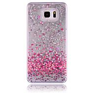 Mert Samsung Galaxy Note Folyékony Case Hátlap Case Csillámpor PC Samsung Note 5