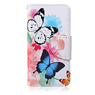 Butterflies Pattern PU  Material Card Bracket  Case for iPod Touch 5  /6