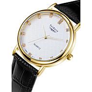 Herr Watch Quartz Modeklocka Vattenavvisande Läder Band Armbandsur