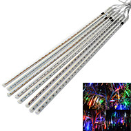JIAWEN® Waterproof 50CM 8-Tube RGB / White / Blue Meteor Rain Light Decoration Tube Lights (US Plug, AC 110-220V)