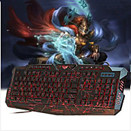 Red/Purple/Blue Backlight LED Pro Gaming Keyboard USB Wired Powered Full N-Key for LOL Dota 2 Computer Peripherals