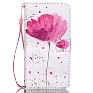 Для Кейс для  Samsung Galaxy Кошелек / Бумажник для карт / со стендом / Флип Кейс для Чехол Кейс для Цветы Искусственная кожа SamsungS6
