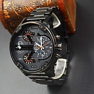 dz aço completo homens relógio do esporte marca de luxo relógio de quartzo militar relógios homens relógio de pulso relogio dz masculino