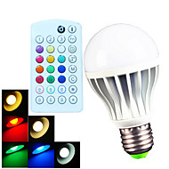 1 pcs E26/E27/B22 9W 700LM Color Temperature Adjustable RGBW A60 Remote-Controlled/Music-Controlled LED Globe Bulb