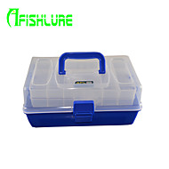 Afishlure Three Layer Multifunctional Portable Case Fishing Tackle Boxes Lure Box Waterproof 3 Trays 30cm*18.5cm*14cm