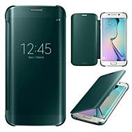 tělocvična luxusní window zrcadlo celého těla pouzdro pro Samsung Galaxy s6 hran g9250 (různé barvy)
