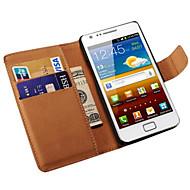 реальный случай кожаный бумажник для Samsung Galaxy S2 i9100