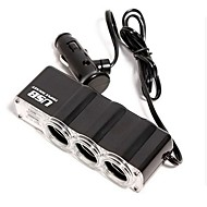 1-to-3 USB Car  Lighter Power Splitter (DC 12V)