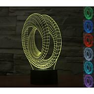 3d abstrait atmosphère visuelle de l'humeur en colimaçon conduit décoration usb lampe de table cadeau coloré lumière de nuit