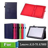 estilo lichee livro fólio de couro pu tampa inteligente com caso de suporte para mesa Lenovo a10-70 / a7600 (cores sortidas)