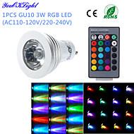 Faretti 1 LED ad alta intesità YouOKLight G50 E14 / GU10 3 W Controllo a distanza / Decorativo 260 LM Colori primari 1 pezzoAC 220-240 /