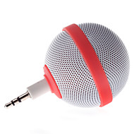 SJL Small Ball Shape Wired 3.5mm Audio Plug Speaker  Red