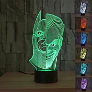 3d deux face lampe de table atmosphère de l'humeur voyant USB décoration cadeau coloré lumière de nuit visuelle
