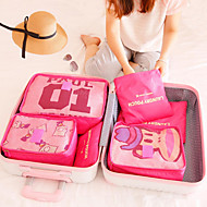 Travel Travel Bag / Packing Organizer / Toiletry Bag Foldable / Portable Travel Storage Fabric Red / Pink