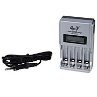 GD-903 100-240V Europe Standard Smart Super Rapid LED Battery Display Charger Adapter Silver (Length :100cm)