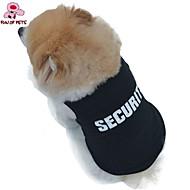 猫用品 / 犬用品 Tシャツ ブラック 犬用ウェア 夏 警察/軍隊 結婚式 / コスプレ / ファッション