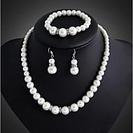 Damskie Zestawy biżuterii Kolczyki wiszące Perlový náhrdelník Perła Elegancki Ślubny biżuteria kostiumowa Perłowy Posrebrzany Biżuteria