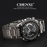 CHENXI® 男性 リストウォッチ クォーツ 日本産クォーツ カジュアルウォッチ ステンレス バンド シルバー