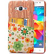 Mert Samsung Galaxy tok Kártyatartó Case Hátlap Case Fa mintázat PC Samsung Grand Prime / Core Prime