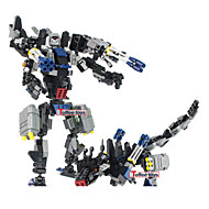 빌딩 블록은 영화 transfor 장난감 로봇 부랑자 장난감 아이 장난감 빌딩 블록 2IN1의 자동 말 파리의 유충 모델은 벽돌을 조립 toys8712