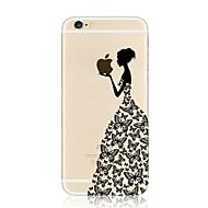 Til iPhone 8 iPhone 8 Plus iPhone 7 iPhone 7 Plus iPhone 6 iPhone 6 Plus Etuier Transparent Mønster Bagcover Etui Leger med Apple-logo