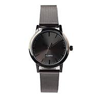 Mujer Reloj de Moda Cuarzo Resistente al Agua Acero Inoxidable Banda Negro Marca-