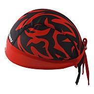 サイクリングキャップ ハット バンダナ バイク 高通気性 速乾性 抗紫外線 抗虫 静電気防止 バクテリア対応 超軽量生地 モイスチャーコントロール サンスクリーン 男女兼用 レッド ポリエステル100%