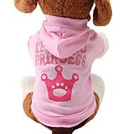 Koty / Psy Bluzy z kapturem Różowy Ubrania dla psów Wiosna/jesień Tiary i korony Urocze / Modny