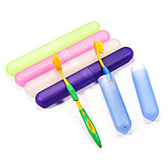 "Travel Toothbrush Container/ProtectorForToiletries Plastic 8.3""*1.2""*1.2""(21cm*3cm*3cm)"