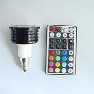 4W E14 LED Spot Işıkları MR16 1 Yüksek Güçlü LED 300 lm RGB Kısılabilir / Uzaktan Kumandalı / Dekorotif AC 100-240 V 1 parça